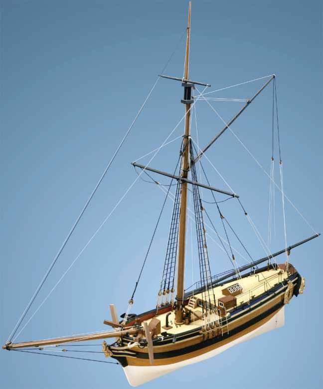 HM Yacht Chatham Wooden Model Kit - Caldercraft (9011)