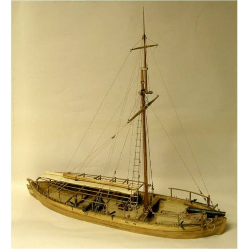 2125-12713-Gunboat-Philadelphia-1776-Boat-Kit-Model-Shipways-MS2263