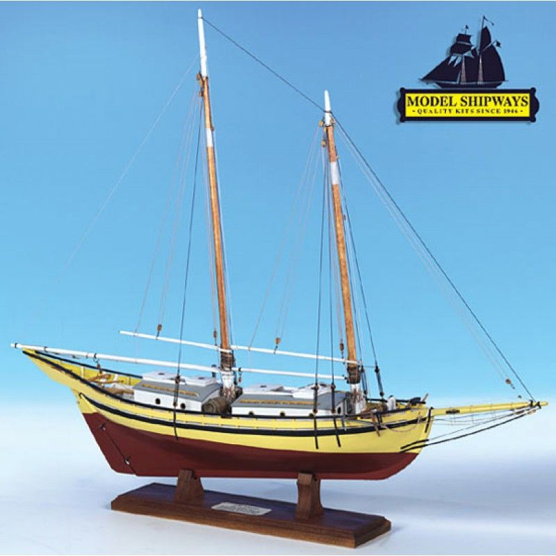 2132-12733-Glad-Tidings-Pinky-Schooner-1937-Kit-Model-Shipways-MS2180
