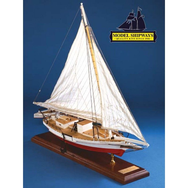 2142-12720-Wilie-L-Bennett-Skipjack-Ship-Model-Kit-Model-Shipways-MS2032