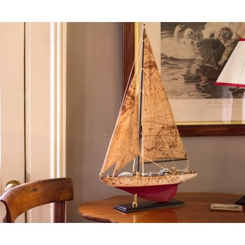 J-Class Model Yacht with Map Sails - NAU (6693)