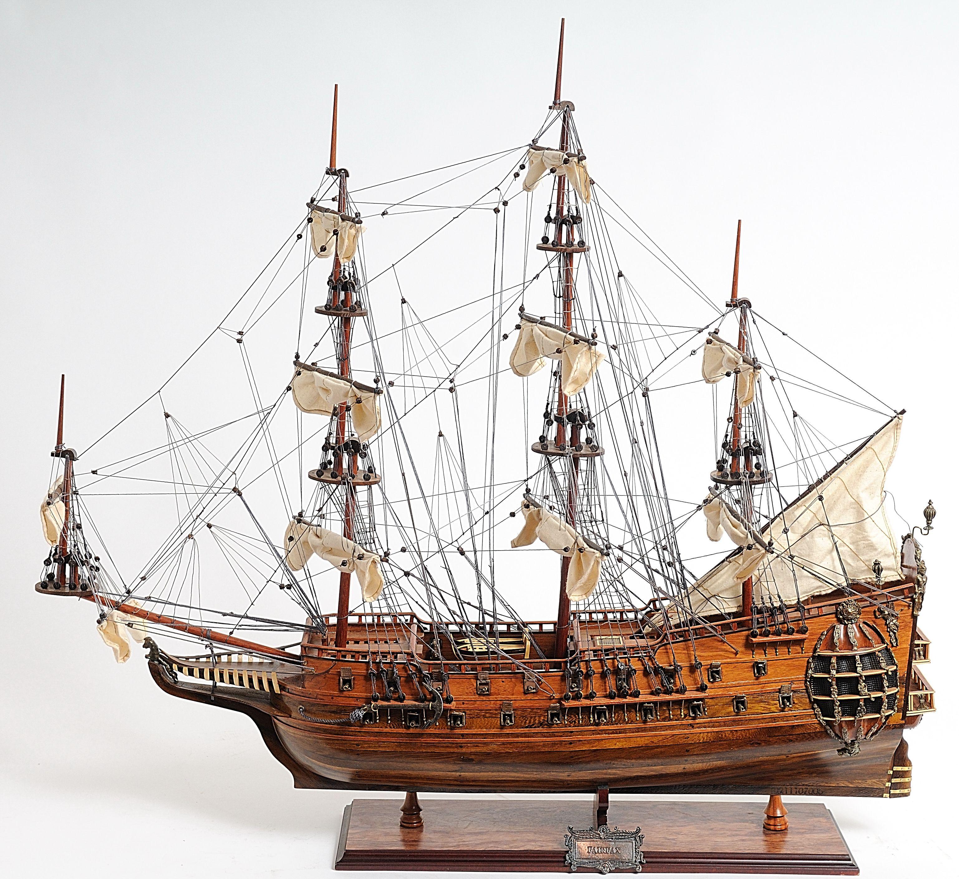 2268-13220-Fairfax-Wooden-Model-Ship