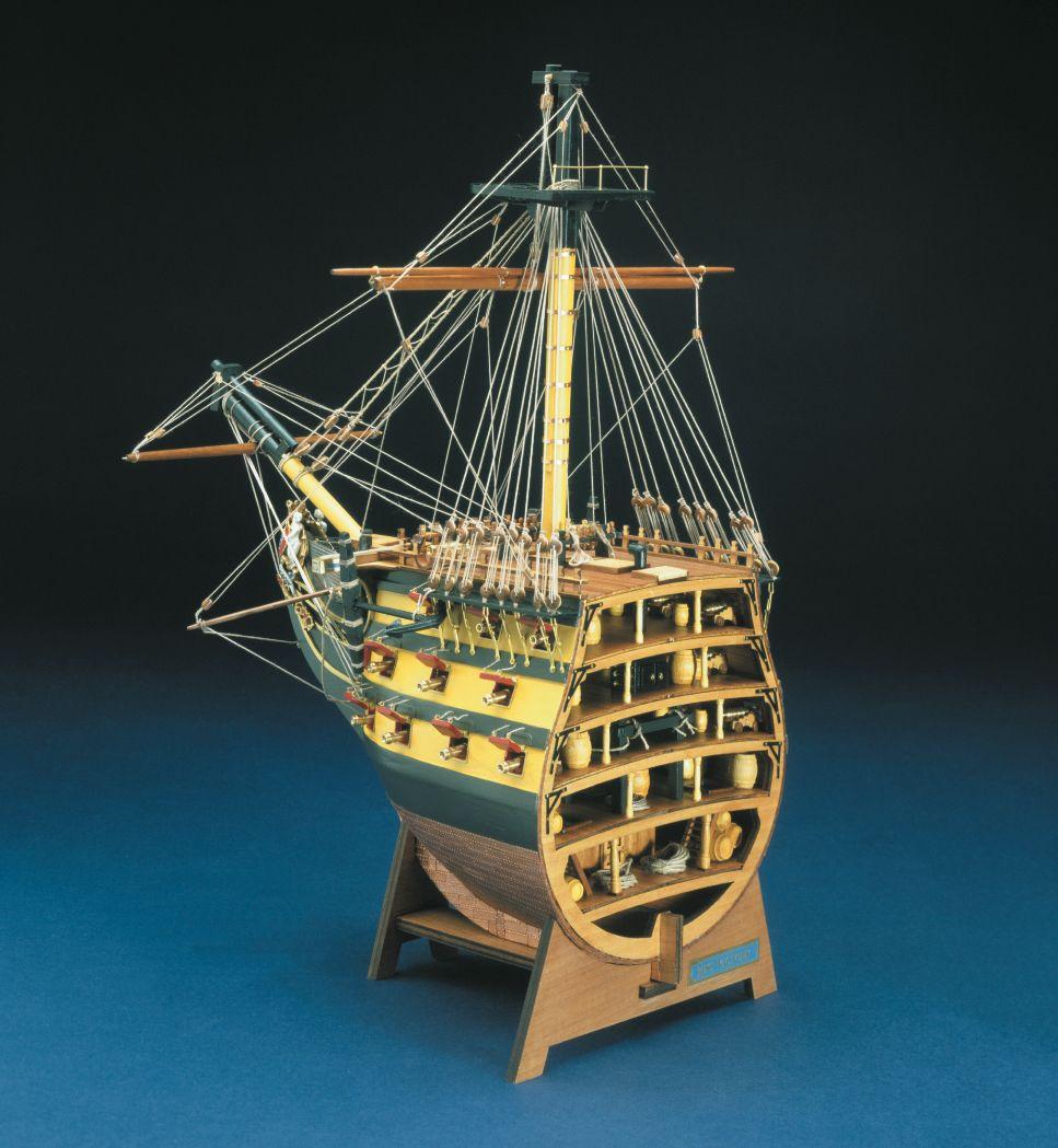 423-13784-HMS-Victory-Cross-Bow-Section-Ship-Model-Kit-Panart-746