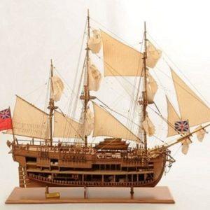 1232-7323-HMS-Endeavour-Open-Hull-Model-Ship-Premier-range