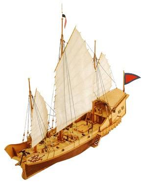 1901-Red-Dragon-Chinese-Junk-Model-Boat-Kit-Artesania-latina-18020