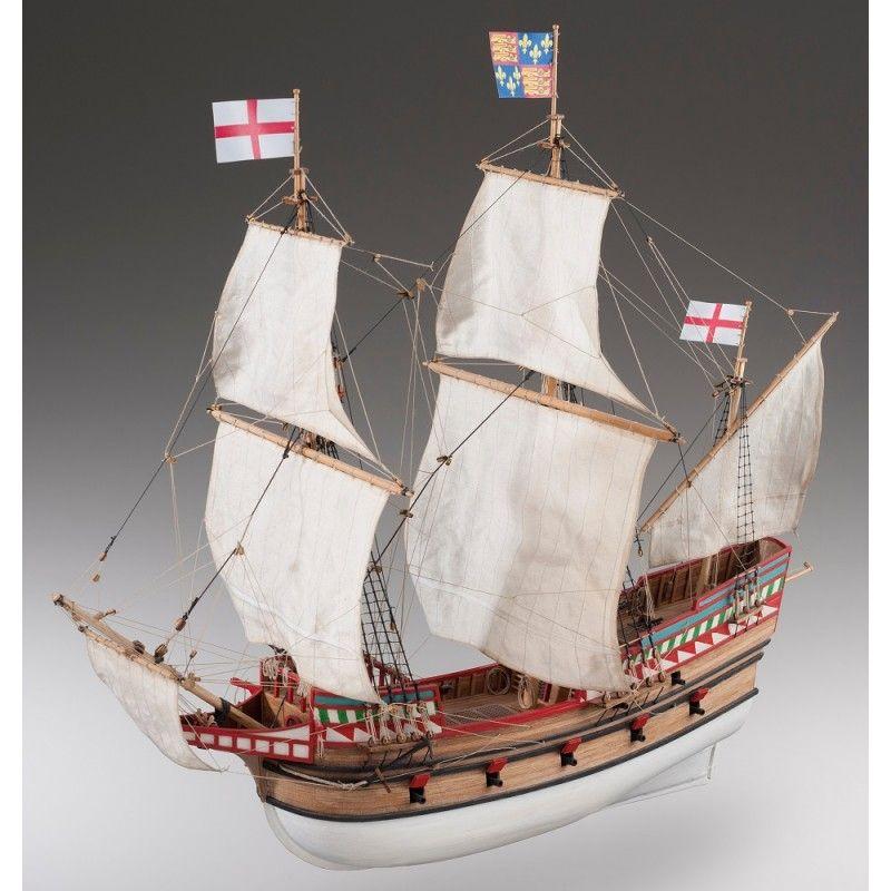 1895-11386-Golden-Hind-Model-Boat-Kit-Dusek-D017