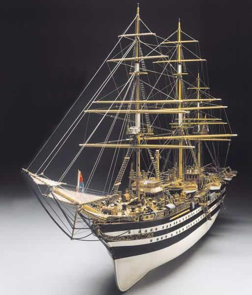 1939-11470-Amerigo-Vespucci-184-Scale-Boat-Kit-Panart-741