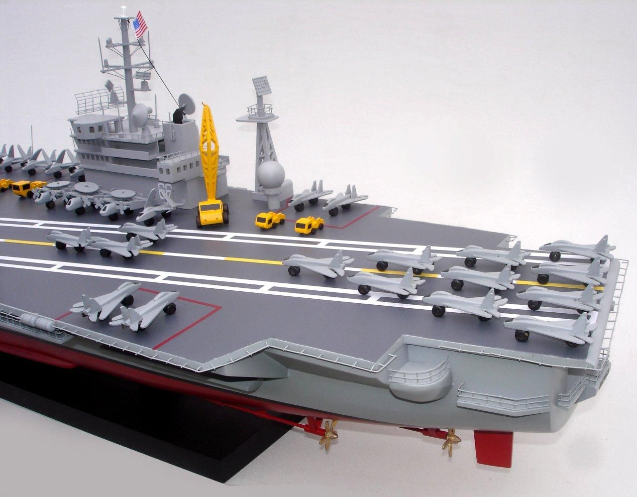 1944-12495-Aircraft-Carrier-Uss-America-CV-66-ship-model