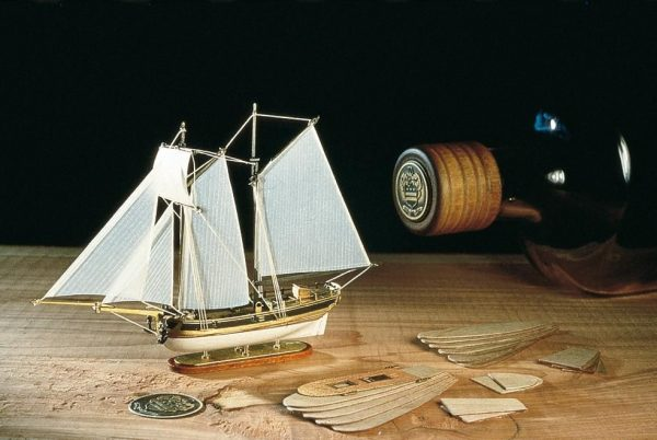 Hannah Schooner in a Bottle Ship Model Kit - Amati (1355)