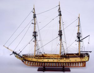 2097-12857-USS-Rattlesnake-Ship-Model-with-Frame-Hull