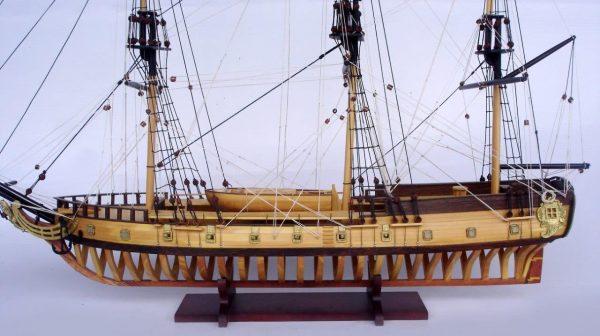 2097-12859-USS-Rattlesnake-Ship-Model-with-Frame-Hull