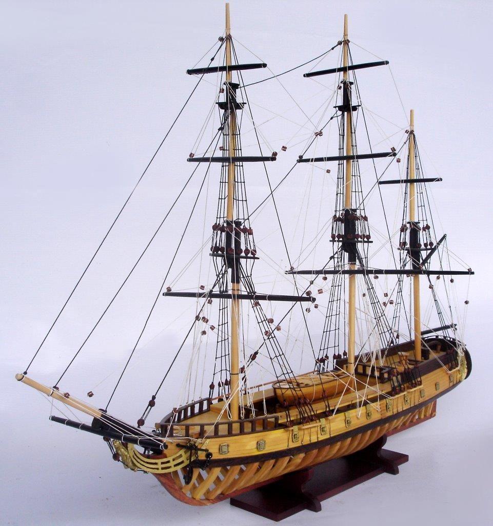 USS Rattlesnake Ship Model with Frame Hull - GN (TS0114WF)
