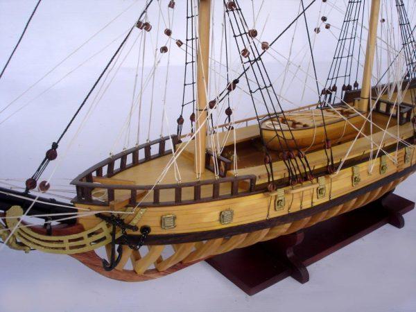 2097-12861-USS-Rattlesnake-Ship-Model-with-Frame-Hull