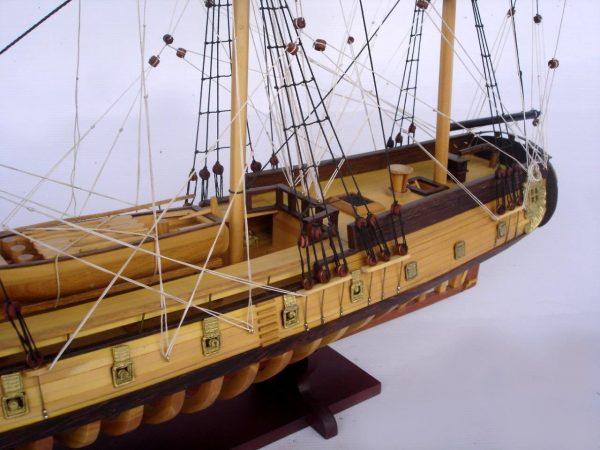 2097-12862-USS-Rattlesnake-Ship-Model-with-Frame-Hull