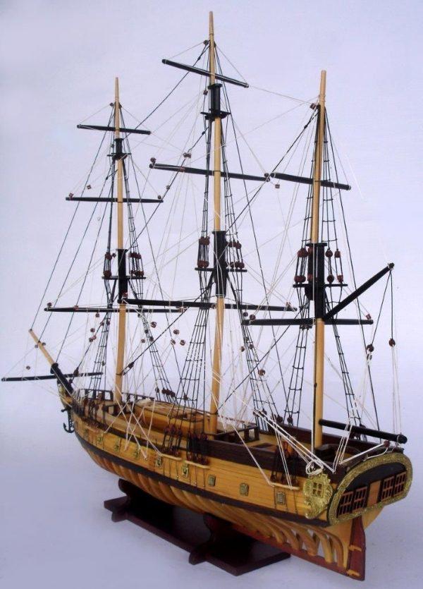 2097-12863-USS-Rattlesnake-Ship-Model-with-Frame-Hull
