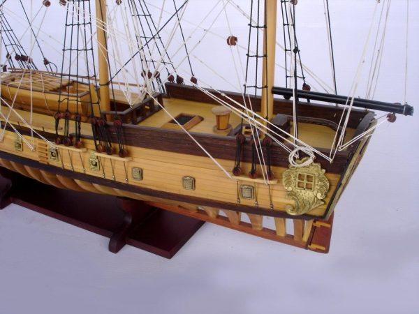 2097-12867-USS-Rattlesnake-Ship-Model-with-Frame-Hull