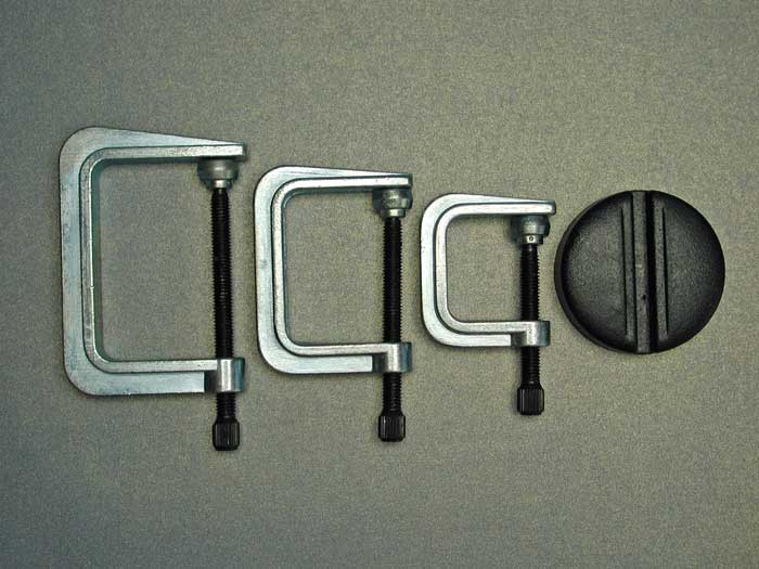 G Clamps (x3) 35, 50 & 65mm + Magnet (PCL 1003)