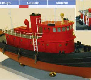 Diesel Tugboat Model Kit - BlueJacket (K1080)