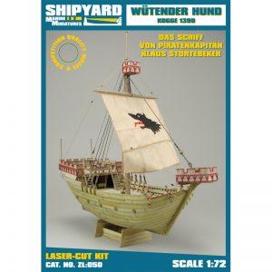 Wütender Hund Kogge 1390 Wooden Model Ship Kit -Shipyard (ZL050)
